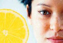 Lemon for removing freckles