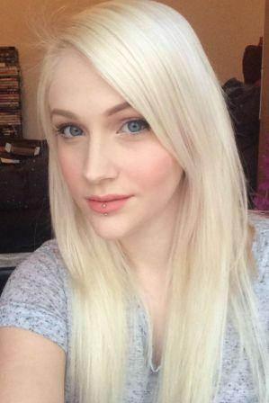Extended white blonde hair 1