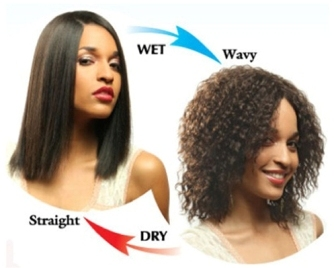 Indian remy wet and wavy human hair