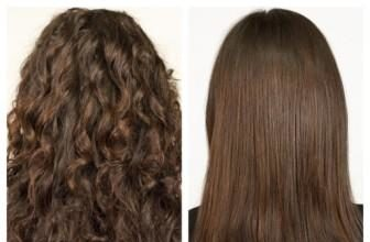 Japanese Hair Straightening - before and after
