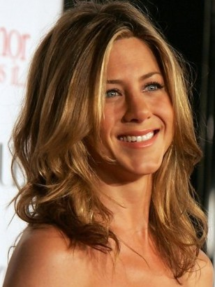 Medium Length Haircut for Thick Wavy Hair - Jennifer Aniston