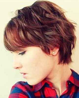 Short layered pixie  1