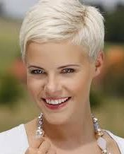 Short white blonde hairstyle 2