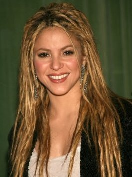 Straight hair dreads - Shakira