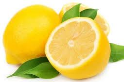 A fresh piece of lemon