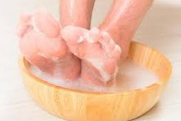 Wash the toes with warm water